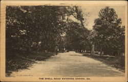 The Shell Road Entering Darien