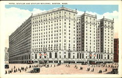 Hotel Statler And Statler Building Postcard