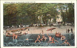Bathing Beach At Delaware Water Gap, Three Miles From Stroudsburg