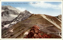 Pikes Peak Auto Highway Showing Seven Elevations