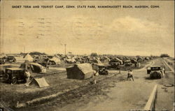 Short Term And Tourist Camp, Conn. State Park, Hammonassett Beach Postcard
