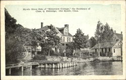 Mystic River Side Of Riverview Cottage The Residence Of Chas. Q. Eldredge