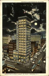 Firemen's Insurance Co. Building By Night, Broad and Market Street