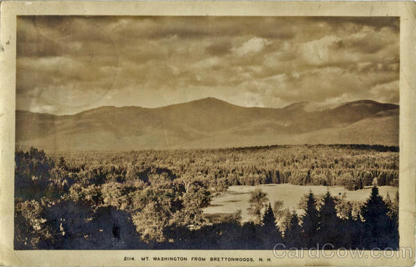 MT. Washington from Bretton Woods New Hampshire