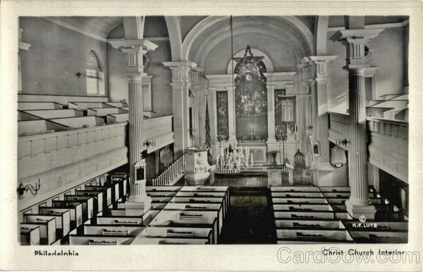 Christ Church Interior Philladelphia Pennsylvania