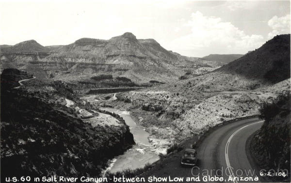 U.S. 60 in Salt River Canyon between Show Low and Globe Scenic Arizona