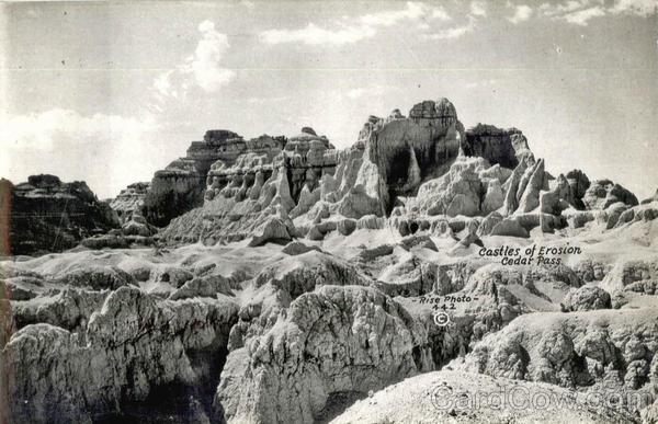 Castles of Erosion Cedar Pass Scenic South Dakota
