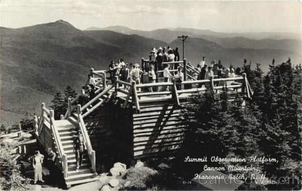 Summit Observation Platform, Cannon Mountain Franconia Notch New Hampshire