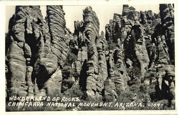 Wonderland of Rocks, Chiricahua National Monument Scenic Arizona