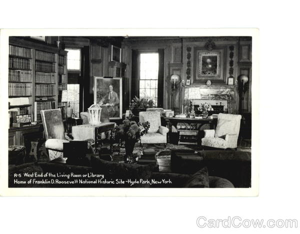 West End of the Living Room or Library, Home of Franklin D. Roosevelt National Historic Site Hyde Park