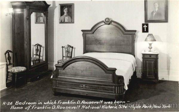 Bedroom in which Franklin D. Roosevelt was born, Home of Franklin D. Roosevelt National Historic Site