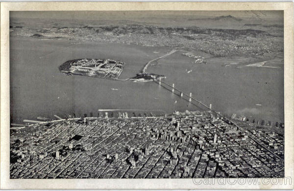 Aerial View of Bay Region San Francisco California
