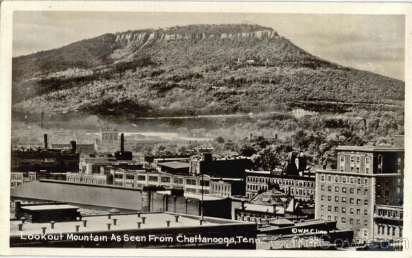 Lookout Mountain As Seen From Chattanooga Tennessee