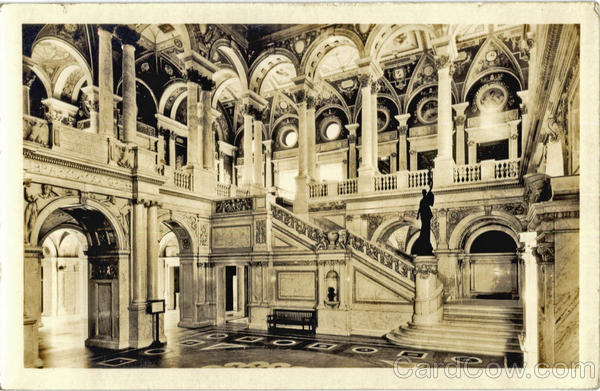 Main Stair Hall, Library of Congress Washington District of Columbia
