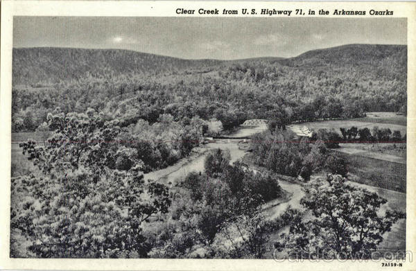Clear Creek from U. S. Highway 71, in the Arkansas Ozarks