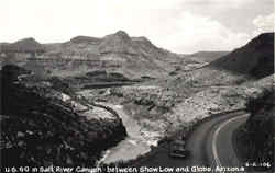 U.S. 60 in Salt River Canyon between Show Low and Globe