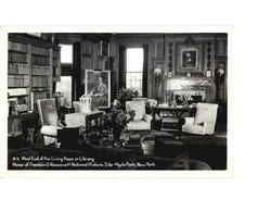 West End of the Living Room or Library, Home of Franklin D. Roosevelt National Historic Site