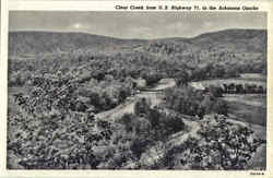 Clear Creek from U. S. Highway 71, in the Arkansas Ozarks Postcard
