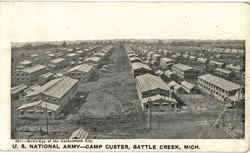 Bird's Eye of the Cantonment City, U. S. National Army-Camp Custer