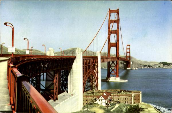 Famed Golden Gate Bridge San Francisco California