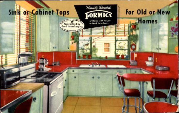 Only Genuine Beauty Bonded Formica Counter Tops Advertising