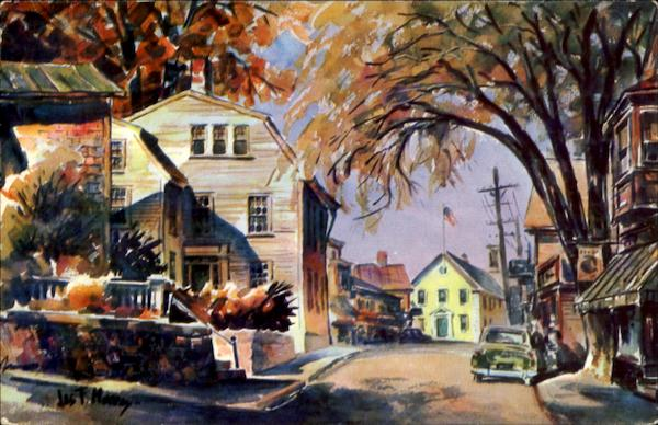 Old Town House And Square Marblehead Massachusetts