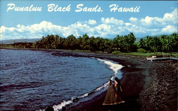 Punaluu Black Sand Beach Scenic Hawaii