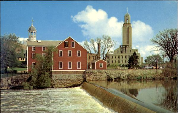 Slater Mill And City Hall Pawtucket Rhode Island