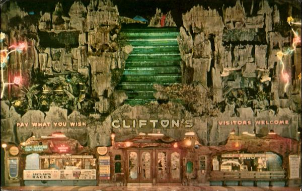 Clifton's Pacific Seas, 618 S Olive St. Los Angeles California