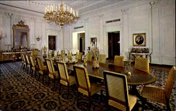 The White House State Dining Room Washington District of Columbia
