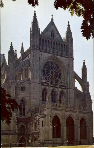 The Washington Cathedral, Massachusetts and Wisconsin Aves., N/W District of Columbia