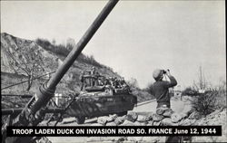Troop Laden Duck On Invasion Road