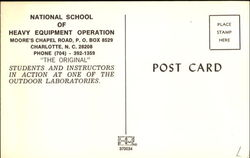 National School Of Heavy Equipment Operation, Moore's Chapel Road, P.O. Box 8529