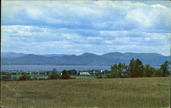 A Scenic View Of Lake Champlain, Route 7