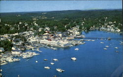 Aerial View Boothbay Harbor