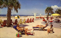 Sunbathing In Florida On Treasure Island's Fabulous Beach Postcard