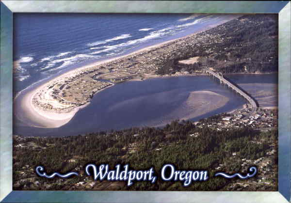An Aerial View Of Alsea Bay Waldport Or