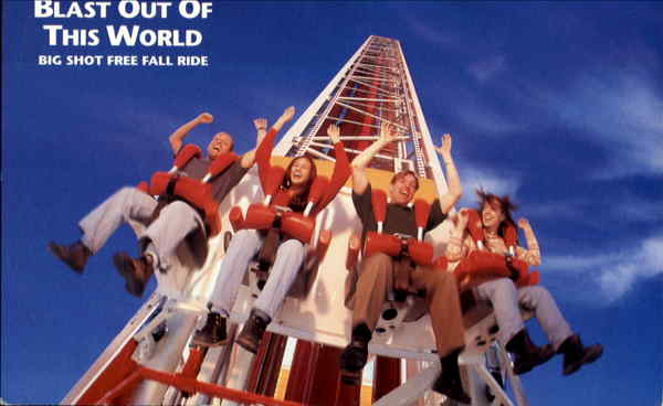 Big Shot Free Fall Ride Las Vegas Nevada