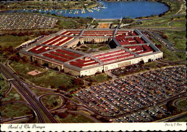 Aerial Of The Pentagon Arlington Virginia