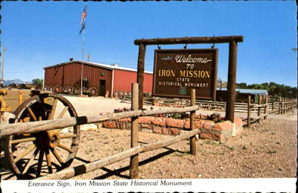 Iron Mission State Historical Monument, 585 North Main St. Cedar City Utah
