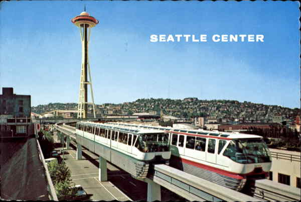 Alweg Monorail Seattle Washington Trains, Railroad