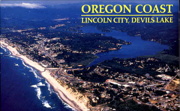 Aerial View Of Beautiful Lincoln City