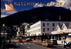 Bustling Front Street In Busy Ketchikan