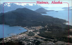 An Aerial View Of Haines Postcard