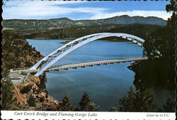 Cart Creek Bridge And Flaming Gorge Lake