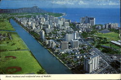 Hotel Business And Residential Area Of Waikiki