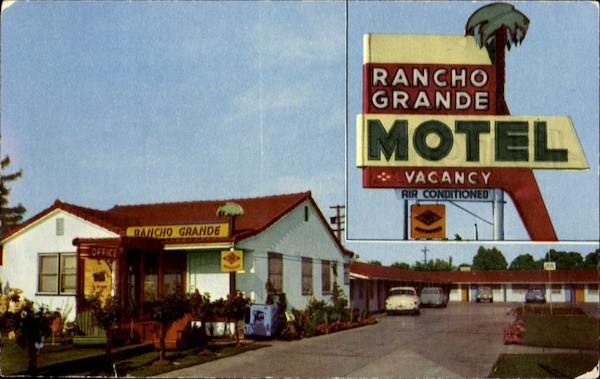 Rancho Grande Motel, 807 So. Cherokee Lane On U. S. 99 Lodi California