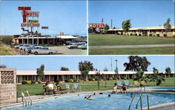 Tulare Inn Motel-Perry's Coffee Shop, Freeway 99 at Paige Ave Postcard