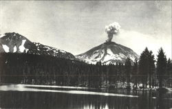 Lassen Peak In Mild Eruption, Lassen Volcanic National Park