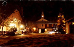 Winter Night At Challenger Inn And Village Square